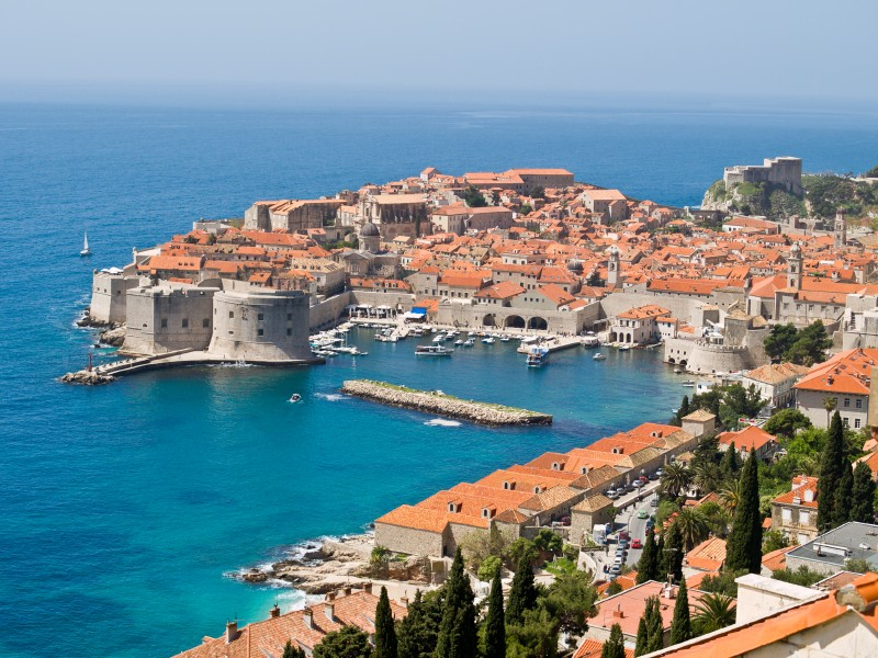 Dubrovnik - an old city on the Adriatic Sea coast in the extreme south of Croatia