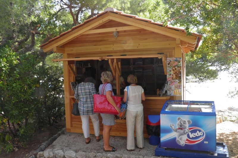 Souvenir shop at Lokrum