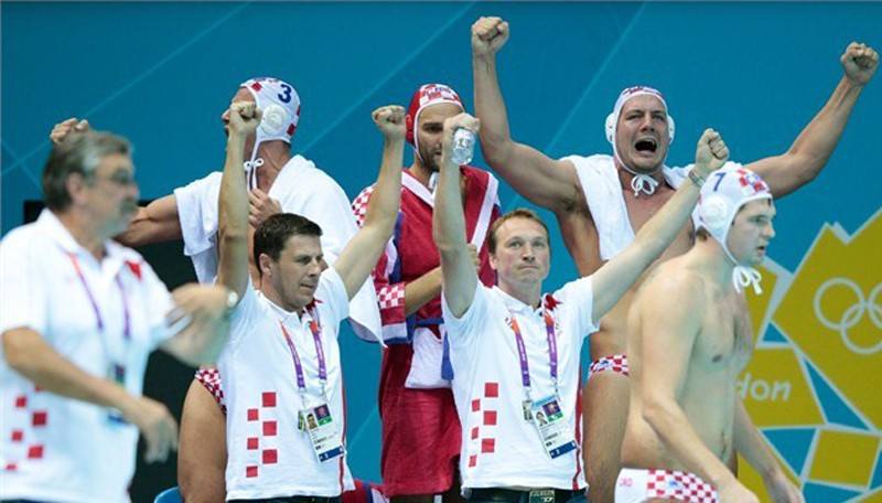 Golden water polo Olympic players