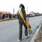 Homemade roller cart race in Konavle