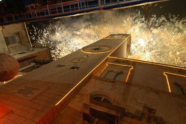 New Year fireworks in Dubrovnik