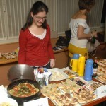 Erasmus exchange students cooking