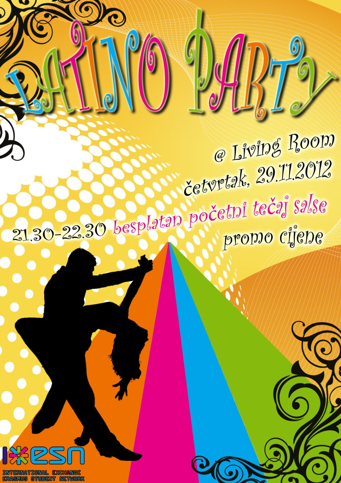 Latino party at Living Room Cafe bar
