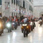 Dubrovnik Bikers' Christmas Spirit on Stradun