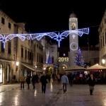 Magic lights on Stradun, Dubrovnik