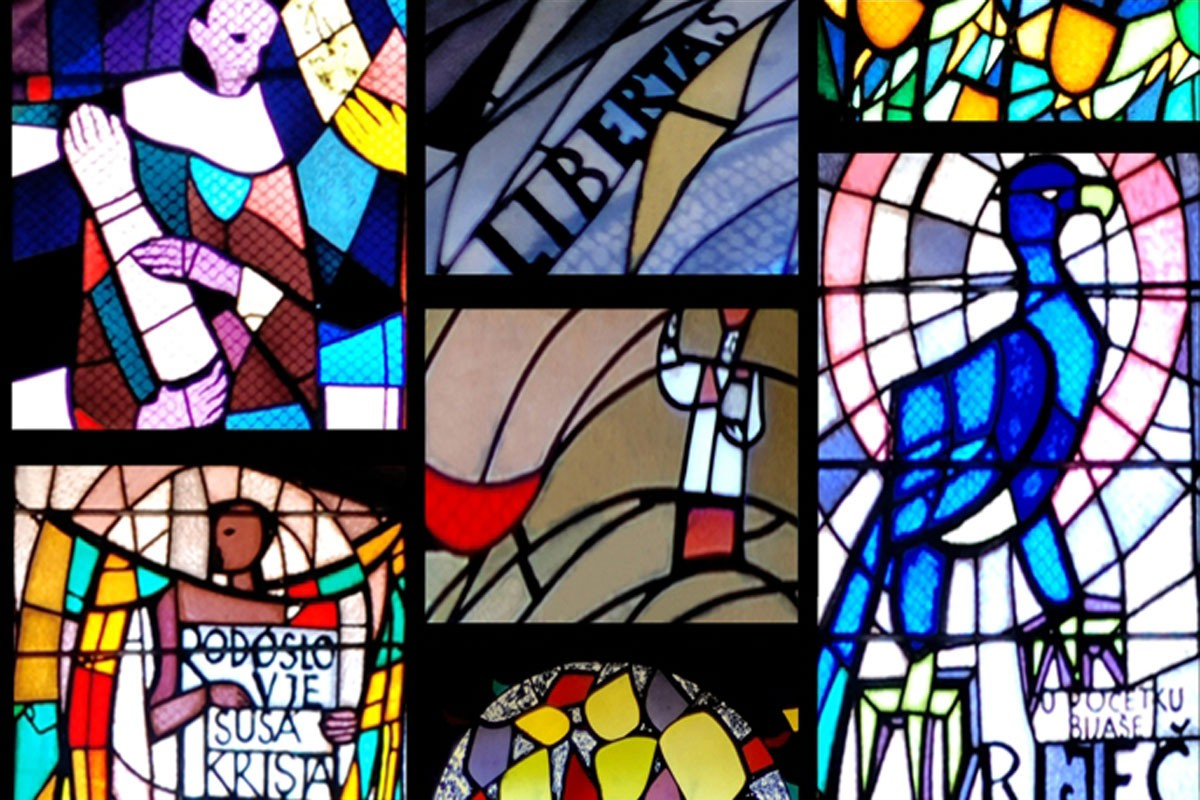 Stained Glass Windows On St Blaises Church