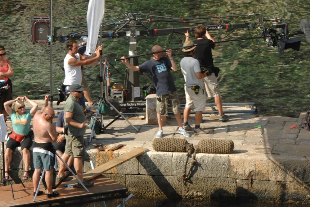 Film crew in Dubrovnik