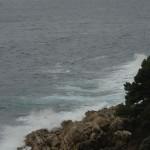 Rain and rough sea in Dubrovnik