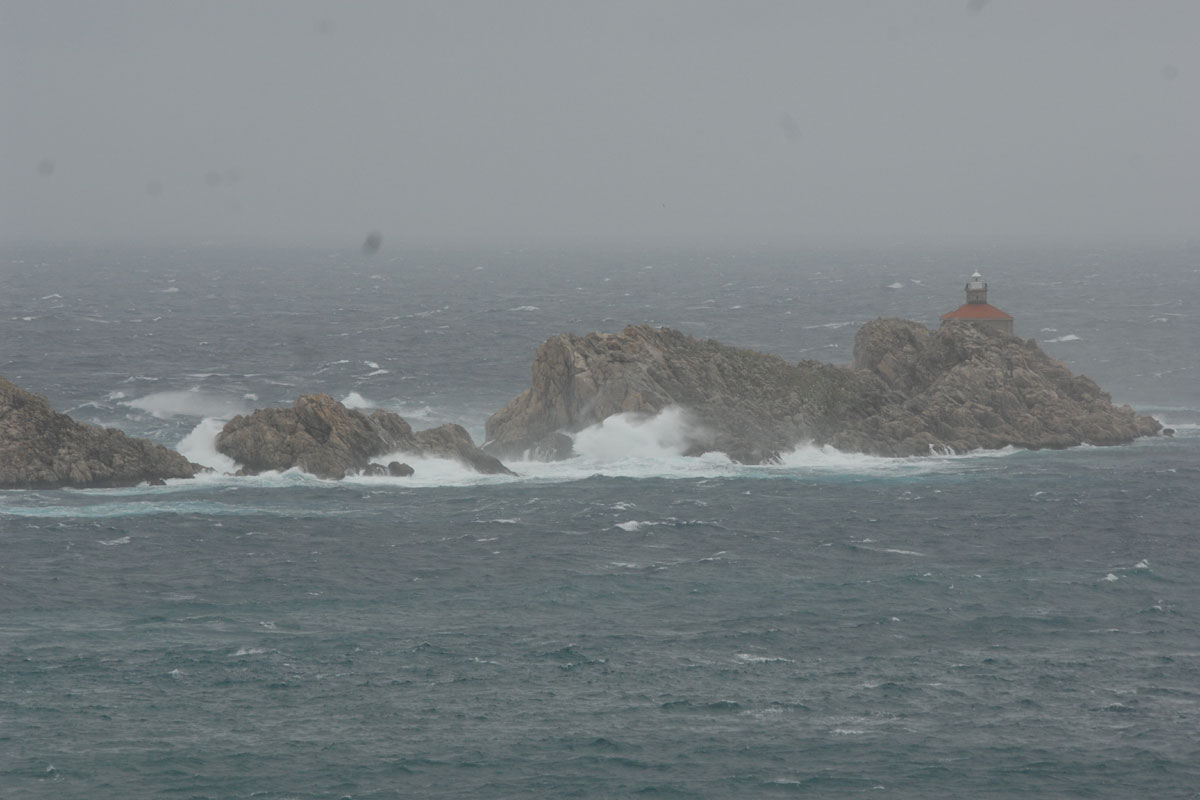 Rain and rough sea in Dubrovnik