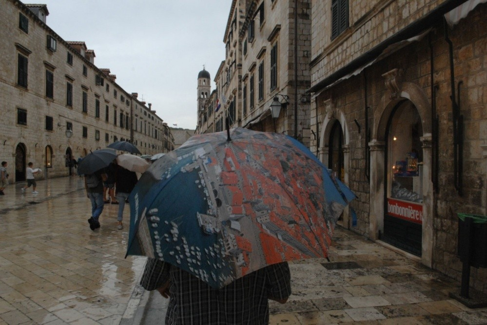 Rain in Dubrovnik