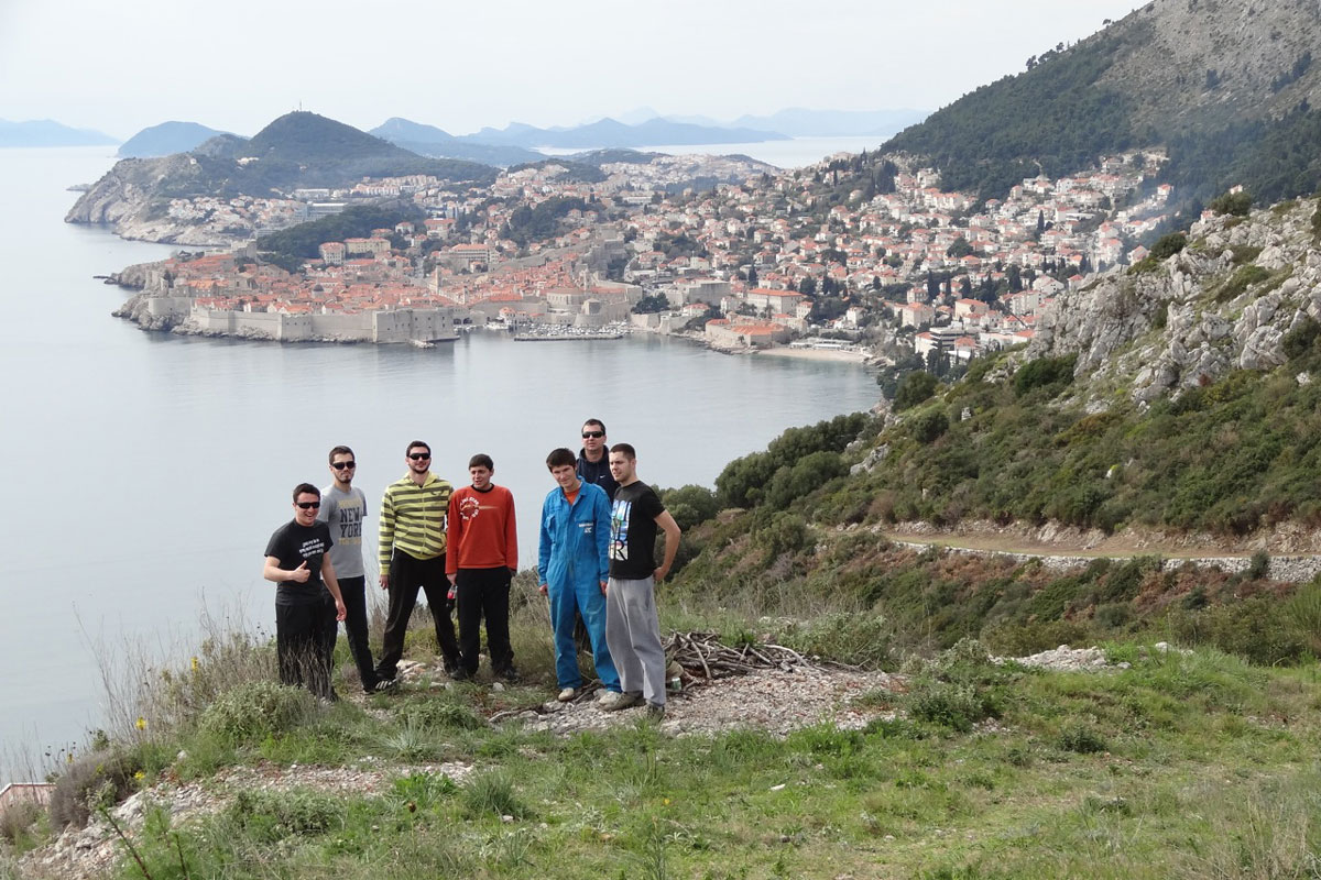 Volunteers Help Park Orsula in Dubrovnik