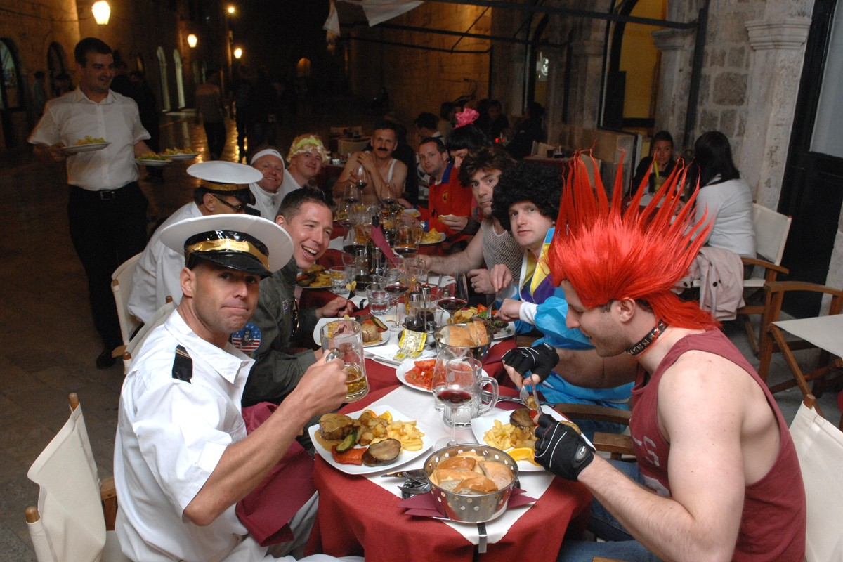 British celebrating bachelor's party
