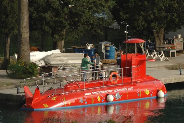 Red Submarine in Dubrovnik