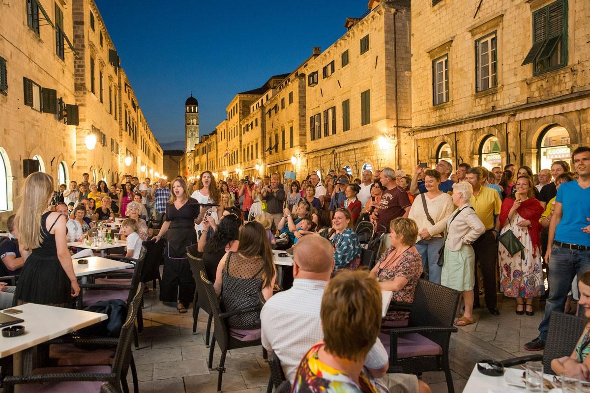 Opera Flash Mob On Dubrovnik's Stradun