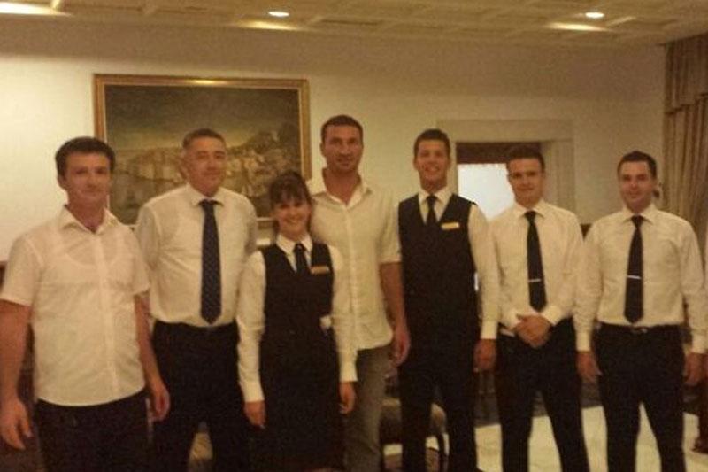 Hayden Pannetierre and Vladimir Klitschko In Dubrovnik