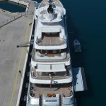 King of Silver's yacht docked in Dubrovnik!