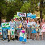 Croatian actors painted for the sick children