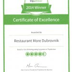 Restaurant More certificate 2014