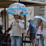 rain old city
