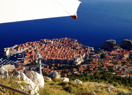 Dubrovnik from the cafe reached by cable car (Photo by Sarah Ricks/ Philadelphia TravelingMom) Read more at https://www.travelingmom.com/dubrovnikcroatia-beautiful-location-game-thrones/#w81VApG4KiHFEQsc.99